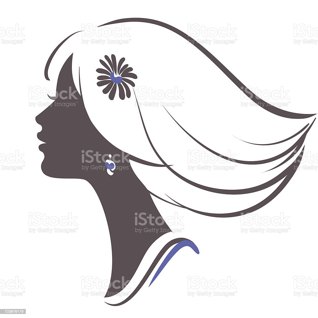Beautiful woman face silhouette royalty-free beautiful woman face silhouette stock vector art & more images of adult