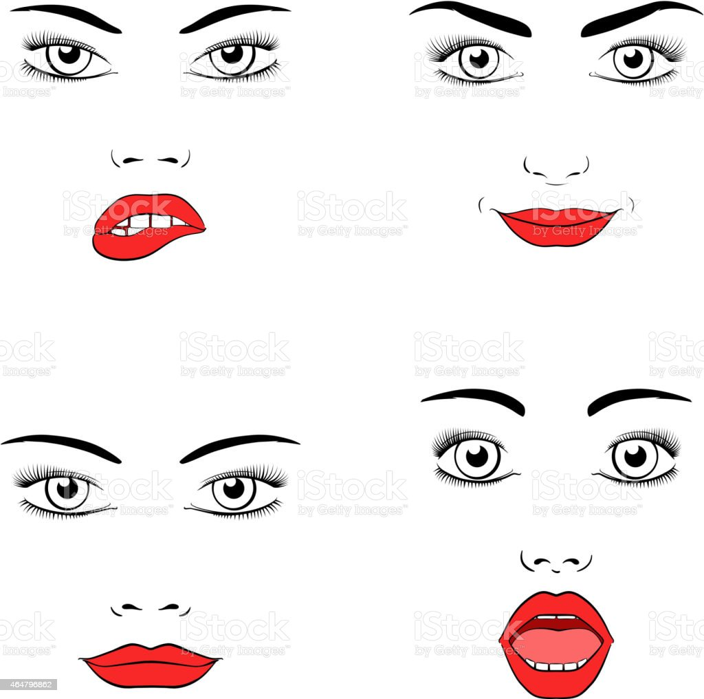 Beautiful woman face silhouette vector art illustration