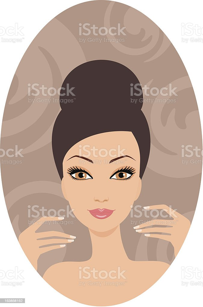 Beautiful woman. French manicure royalty-free stock vector art