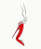 Nail art and fashion accessory vector illustration
