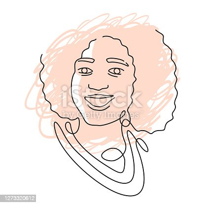 istock beautiful woman in single continious line 1273320612