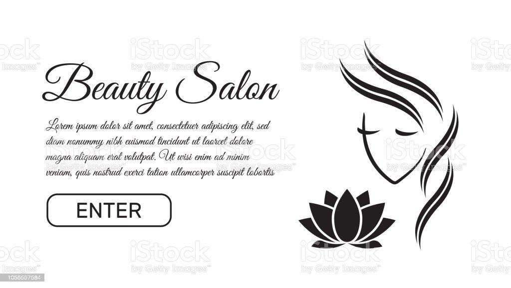 Modèle De Logo De Belle Femme Pour Salon De Coiffure Salon De Beauté