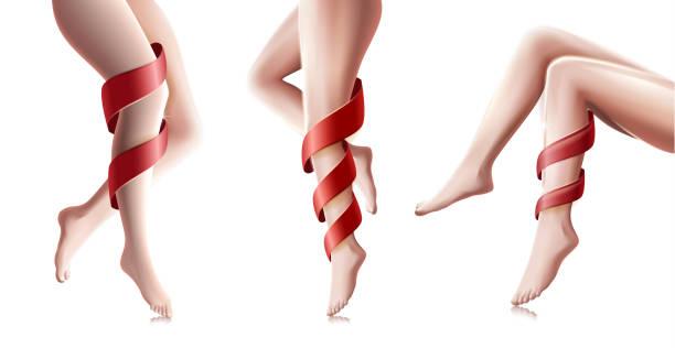 schöne frau lange beine in verschiedenen posen, spa - langhaarspitzen stock-grafiken, -clipart, -cartoons und -symbole