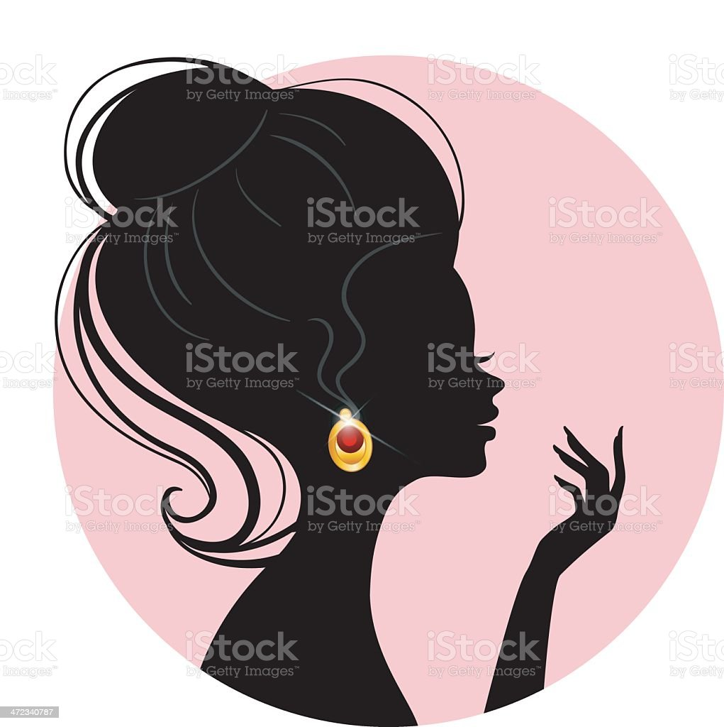 Beautiful woman pic royalty-free stock vector art