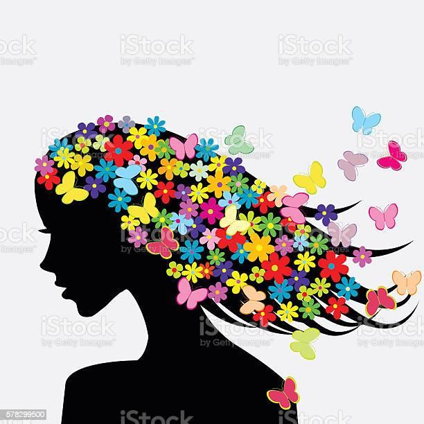 Beautiful woman profile silhouettes with flowers vector id578299500?b=1&k=6&m=578299500&s=612x612&h=vsv44walfssb5bqssqevkwuzjyqhcmcdvpv ow6sijy=