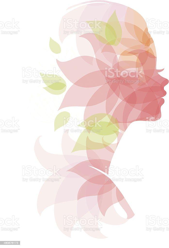 Beautiful woman royalty-free stock vector art