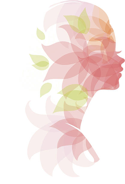 beautiful woman - abstract silhouettes stock illustrations