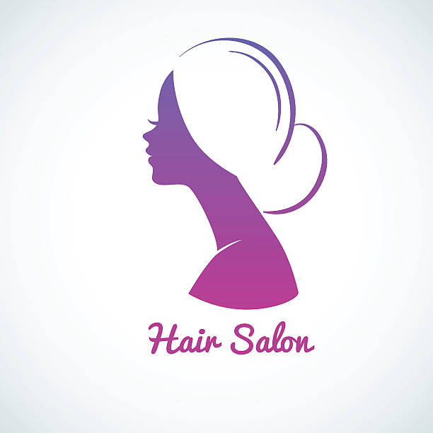 royalty free girl side profile drawing clip art vector images