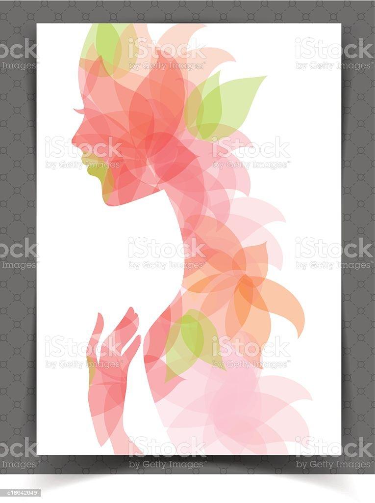 Mujer bella - ilustración de arte vectorial