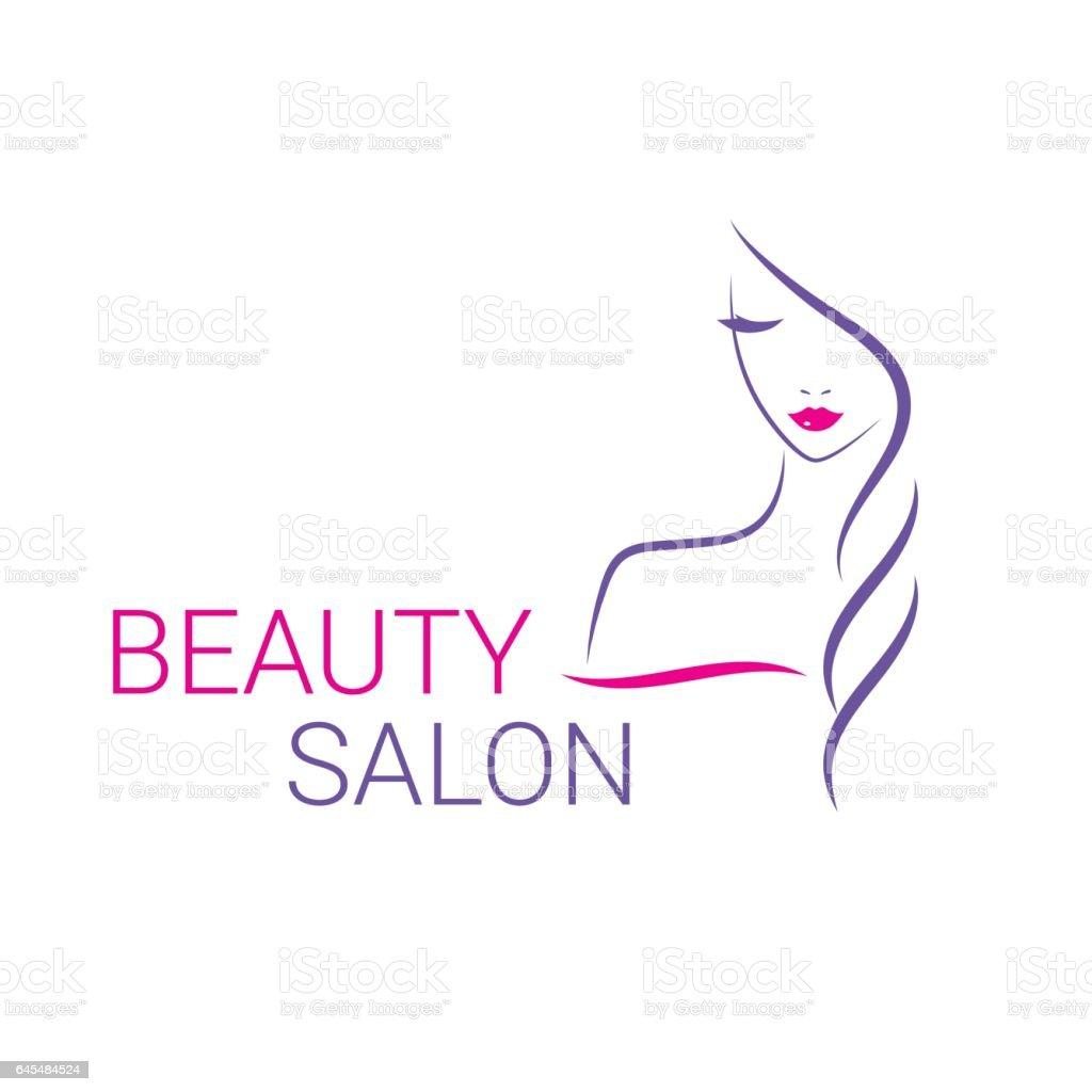 Modèle De Logo Vectoriel Belle Femme Pour Salon De Coiffure Salon De