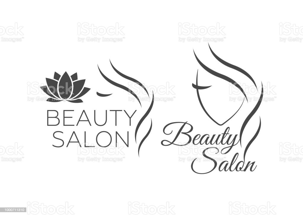 b382bd31ee5b1c Belle femme vecteur descripteur logo pour salon de coiffure. Logo vectoriel  esthétiques, centre de