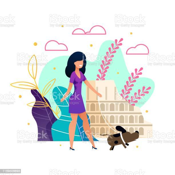 Beautiful woman walking dog during travelling vector id1159558893?b=1&k=6&m=1159558893&s=612x612&h=sqql9ntmo524jxf5frvydmfkzgr 5ak6tlgpyirdm a=