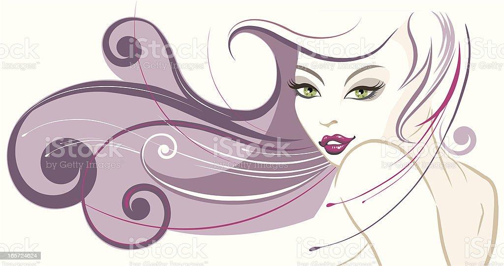 Beautiful woman's portrait. royalty-free stock vector art