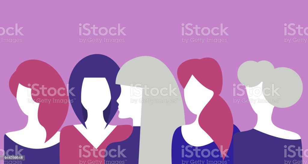 Beautiful women, young girls