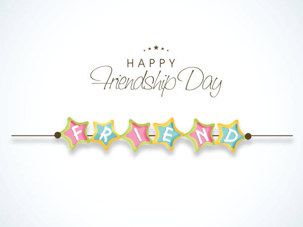 wunderschöne schweißarmband für tag der freundschaft feiern. - paararmbänder stock-grafiken, -clipart, -cartoons und -symbole