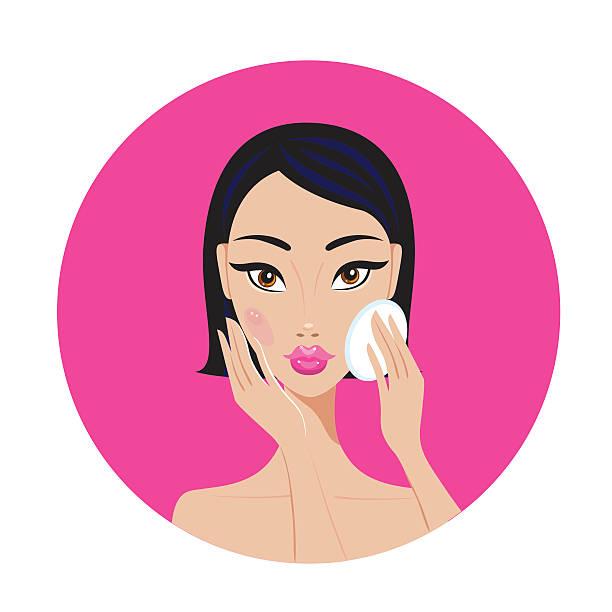 ilustrações, clipart, desenhos animados e ícones de bela jovem mulher asiática remover fazem o perfeito olha feliz - bandeira da coreia
