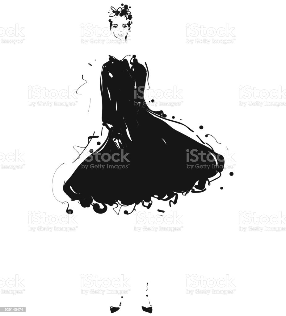 Royalty Free Dress Design Sketches Drawing Clip Art Vector Images