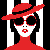 Beautiful young woman. Retro style. Pop art. Fashion design. Vector illustration