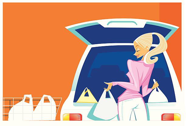ilustrações de stock, clip art, desenhos animados e ícones de bela jovem de compras - enjoying wealthy life