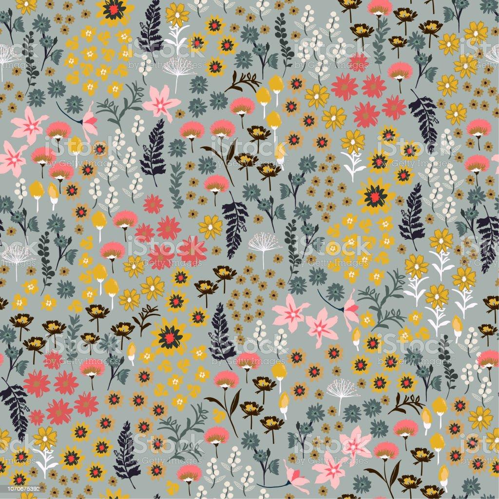 Beautifull Small Liberty Many Kind Of Wild Flowers Pattern Hand