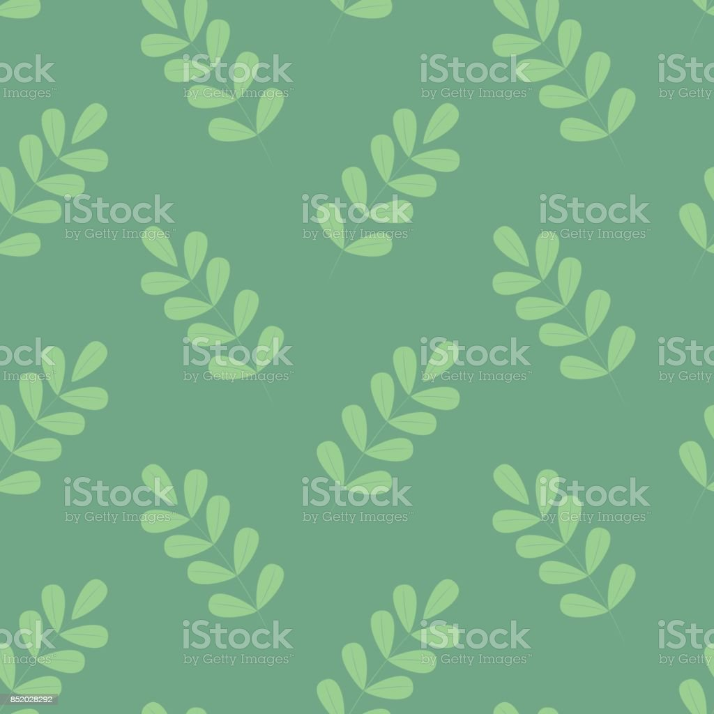 Beautiul simple green foliage seamless pattern royalty-free beautiul simple green foliage seamless pattern stock vector art & more images of art
