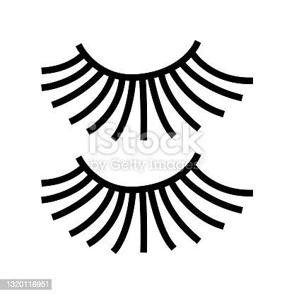 istock beauty accessory eyelashes color icon vector illustration 1320116951
