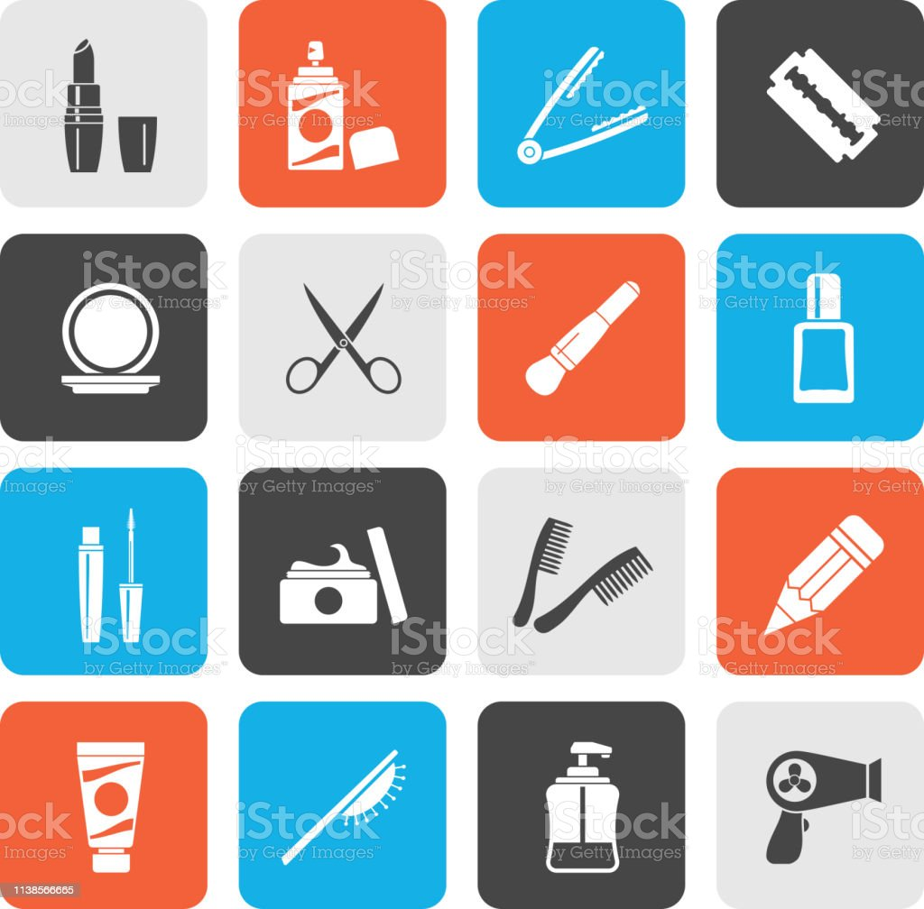 Beauty and cosmetics icons - vector icon set