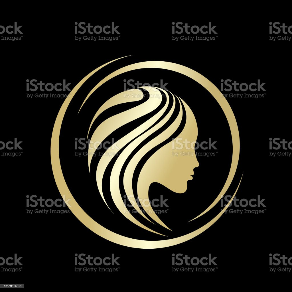 Beauty and hair salon vector icon.Portrait of beautiful woman. vector art illustration