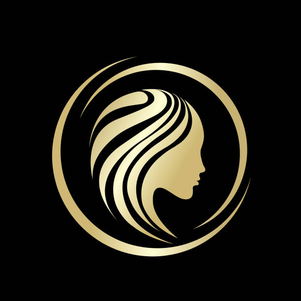 Beauty and hair salon vector icon.Portrait of beautiful woman. vector art illustration