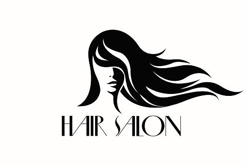 hair vector salon beauty wavy flowing vectors illustrations friseur icon shutterstock clip makeup kopf isolated graphics istock woman istockphoto