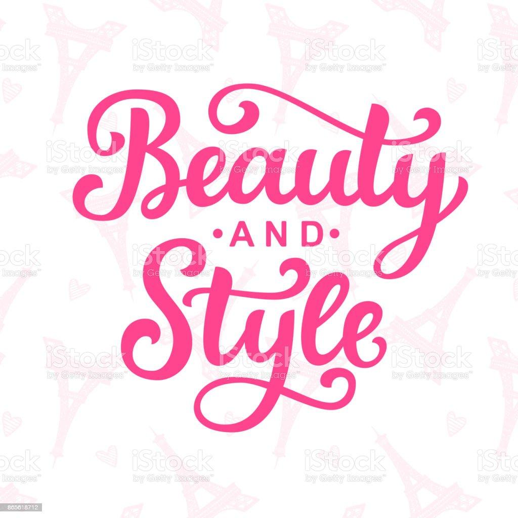 Beauty and style vector logo vector art illustration