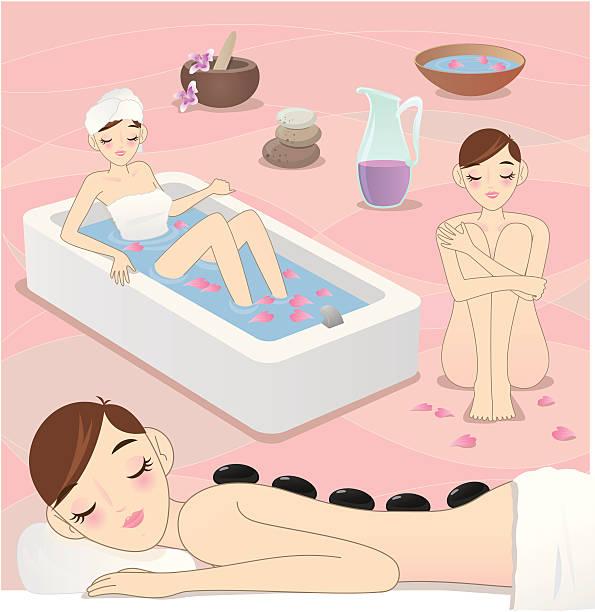 illustrazioni stock, clip art, cartoni animati e icone di tendenza di bellezza nella spa - china drug