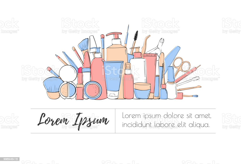 Schönheitblog Oder Makeupshophut Pastell Blau Und Rosa Layout ...