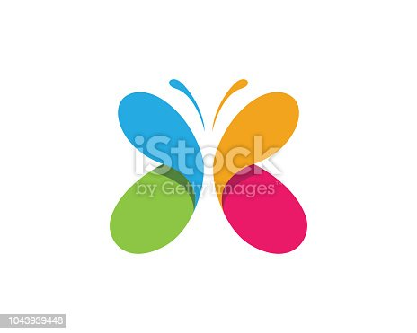 Beauty Butterfly Logo Template Vector icon design