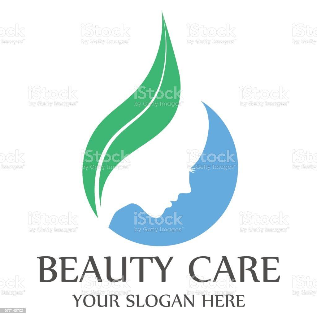 Beauty care template design vector art illustration