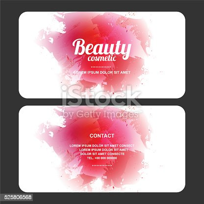 beauty cosmetics design card, eps10 vector