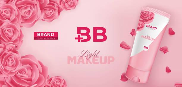 BB Beauty Cream Cosmetic Ad Vector Banner Template Design vector art illustration