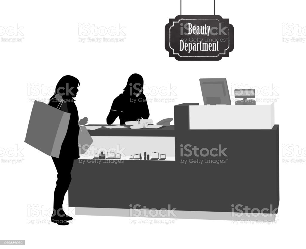 Beauty Department Store vector art illustration