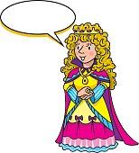 Beauty fairy queen or princess