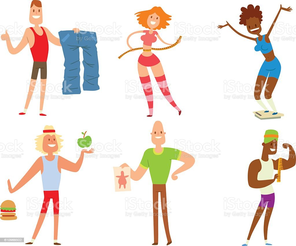 Beauty Fitness People Weight Loss Stock Illustration Download Image Now Istock