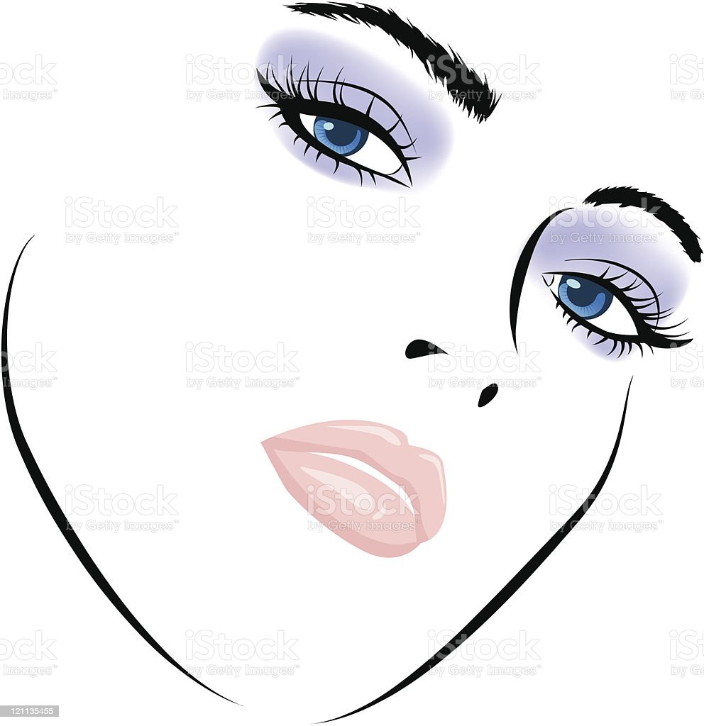 beauty girl face. Art vector work illustration royalty-free beauty girl face art vector work illustration stock vector art & more images of abstract