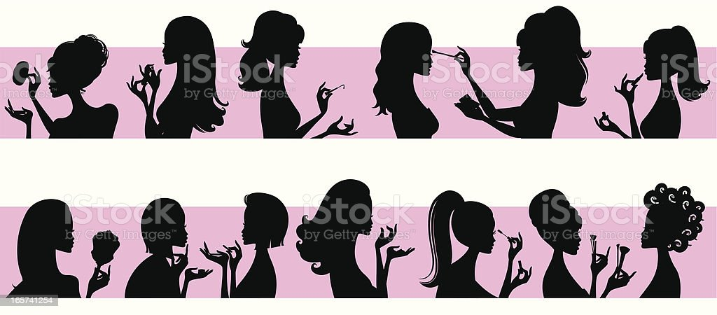 Beauty Girls vector art illustration