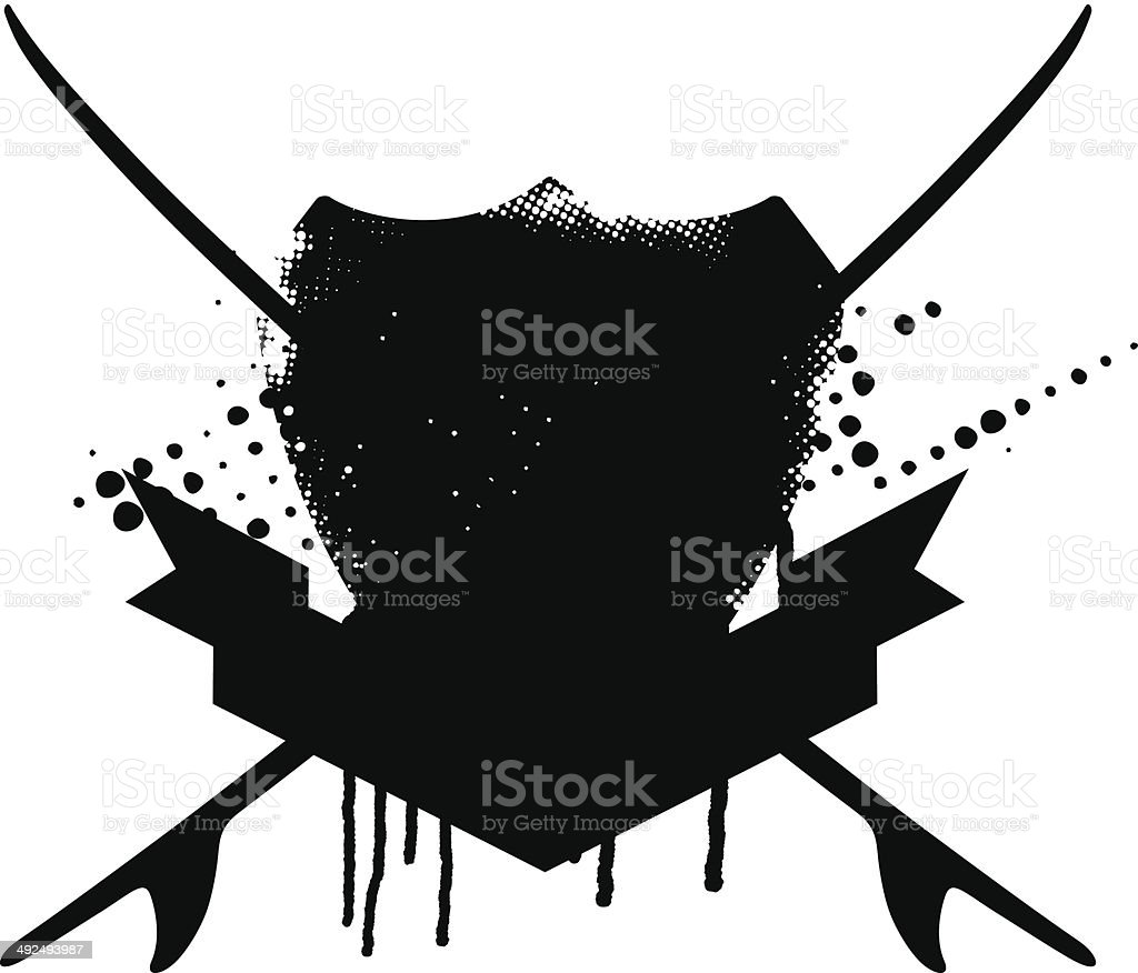 beauty grunge surf shield royalty-free beauty grunge surf shield stock vector art & more images of adventure