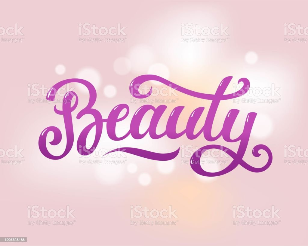 Beauty hand drawn text