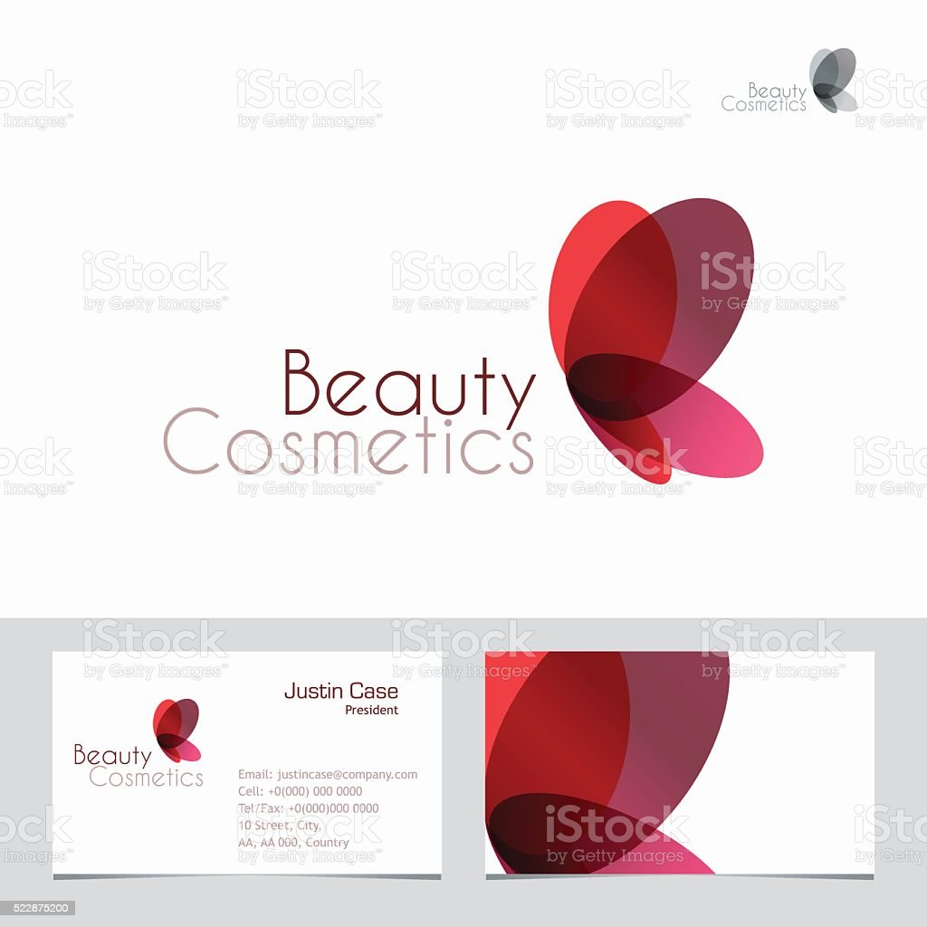 Beauty Icon & Business Card vector art illustration