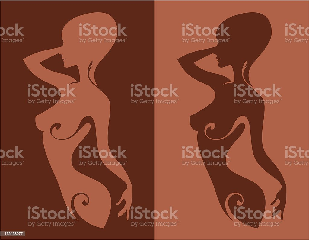 Beauty in a dancing pose. royalty-free stock vector art