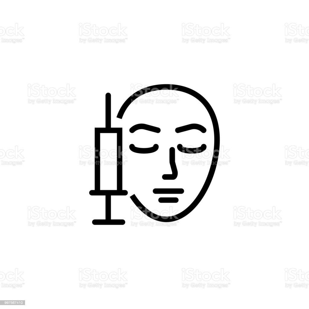 美容注射ライン アイコン ベクターアートイラスト