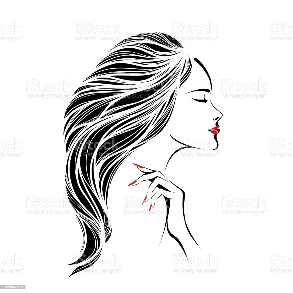 Beauty Nail Art And Hair Salon Vector Logo Stock Vector Art More