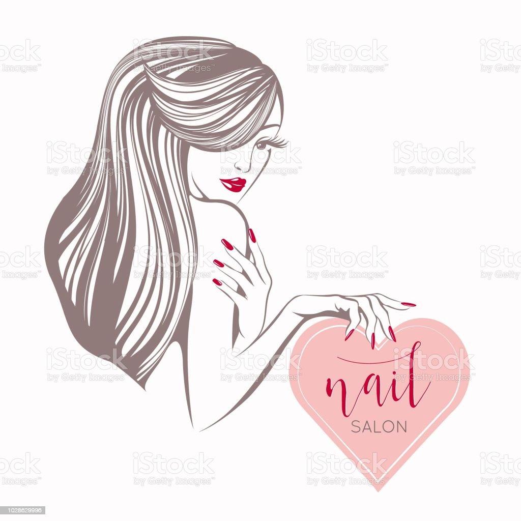Nails Art Beauty Salon Background Stock Vector: Beauty Nails Art And Hair Salon Vector Illustration Stock
