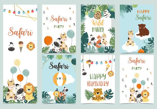 safari invitation free vector art 85 free downloads